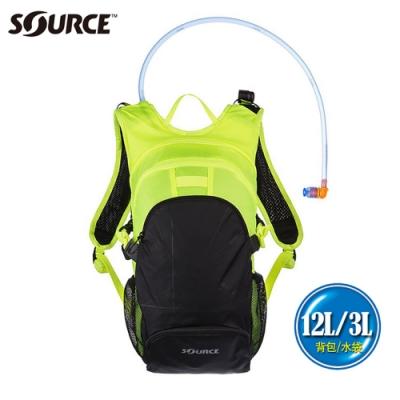 【以色列SOURCE】戶外健行水袋背包Fuse系列 (12L/水袋3L)