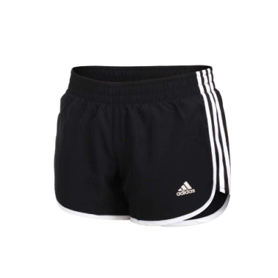 ADIDAS 女運動短褲-亞規 吸濕排汗 三分褲 運動 慢跑 路跑 反光 愛迪達 GK5265 黑白