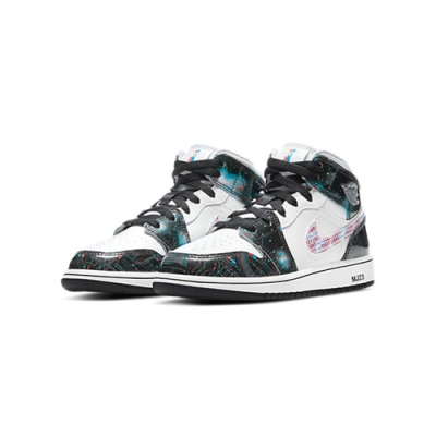 NIKE AIR JORDAN 1 MID SE GS Take Flight 星空銀河 BQ6931-114