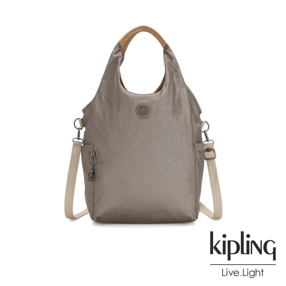 Kipling 邊緣地帶質感霧金肩背側背包-URBANA-EDGELAND系列