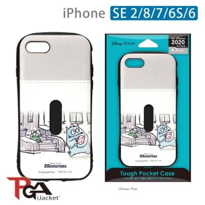 iPhone SE2/8/7/6S/6 4.7吋 迪士尼 軍規 皮革插卡 雙料殼-怪獸工廠