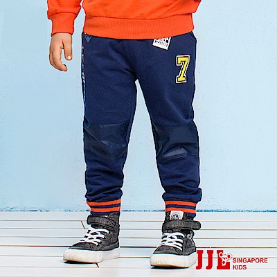 JJLKIDS 美國淘氣男孩拼貼棉褲(藏青)