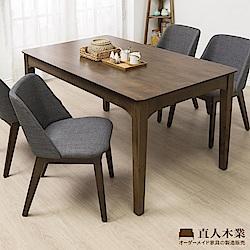 日本直人木業-WOOD北歐美學120CM餐桌加SOL四張椅子