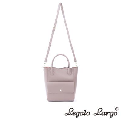 Legato Largo Lusso 氣質百搭款2WAY手提斜背兩用包 藕粉色