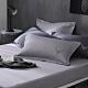 OLIVIA  Saul 淺灰 標準雙人床包歐式枕套三件組 300織匹馬棉系列 台灣製 product thumbnail 1