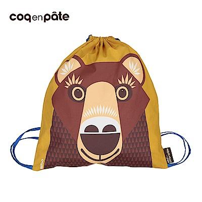 【COQENPATE】法國有機棉無毒環保布包 - 童趣輕鬆包- 熊