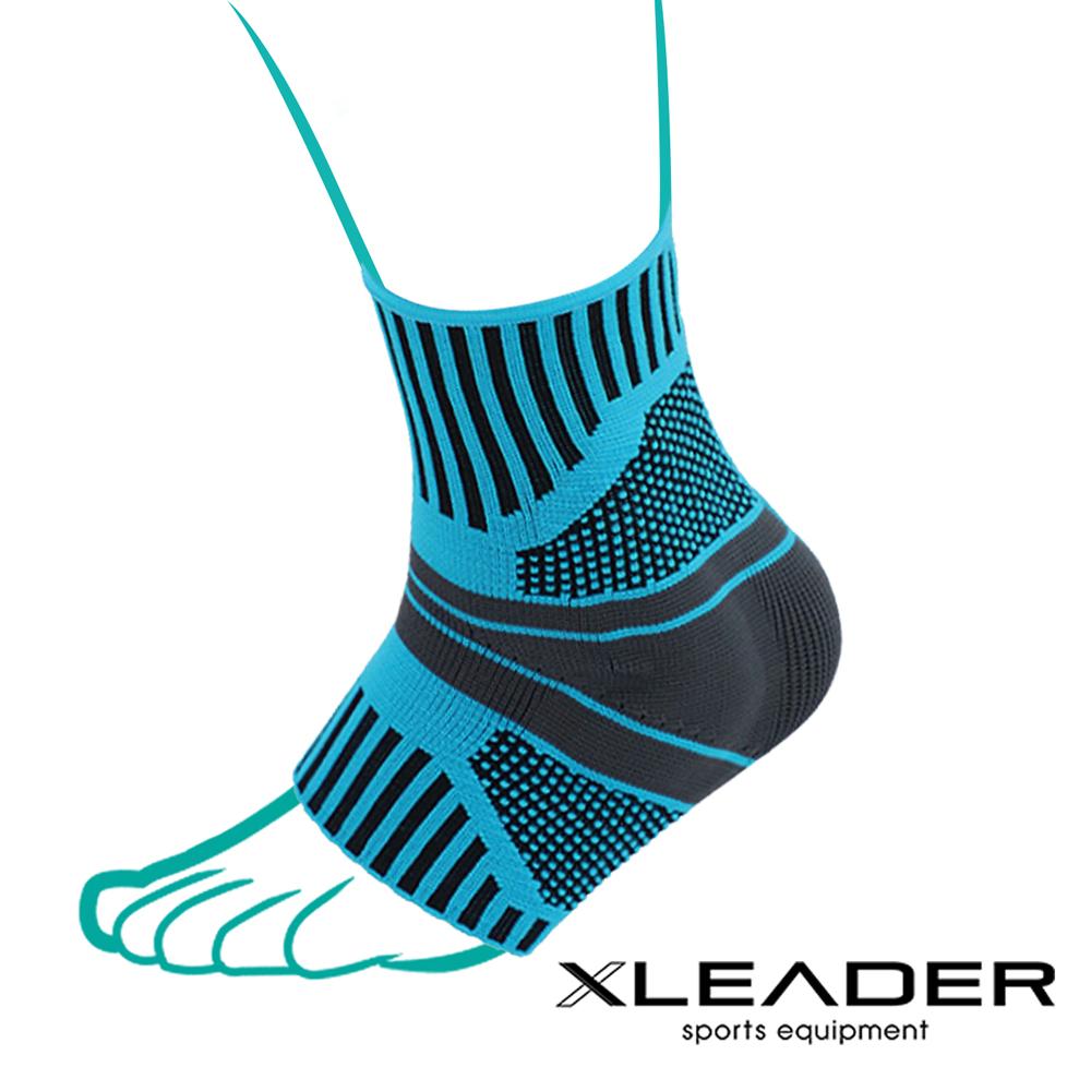 Leader X 運動壓力矽膠墊片護踝套 踝關節保護墊 藍黑 單只入