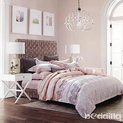 BEDDING-100%天絲萊賽爾-加大薄床包鋪棉兩用被套四件組-格蕾絲