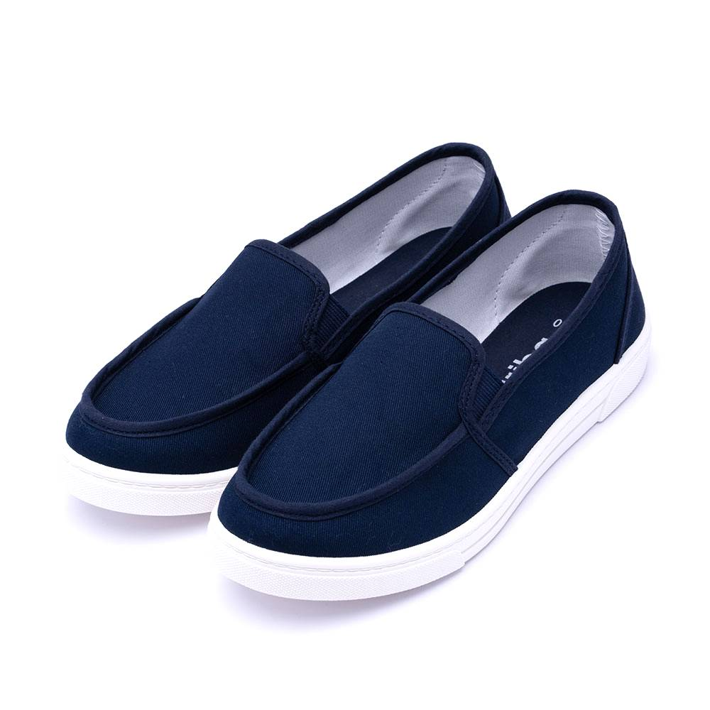 ARRIBA艾樂跑女鞋-布質懶人鞋 便鞋-藍/粉(AB8073)