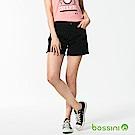 bossini女裝-休閒素色短褲02黑