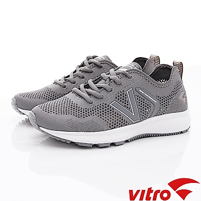 Vitro韓國專業運動品牌-Breeze Run-Grey專業慢跑鞋-灰(男)