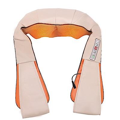 Beroso 倍麗森 升級版4D舒筋樂仿真人肩頸揉捏多用途按摩披肩-灰橘色