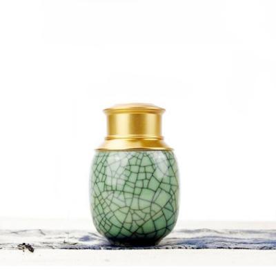 原藝坊 哥窯鐵線 鋁合金復古密封茶葉罐(小)