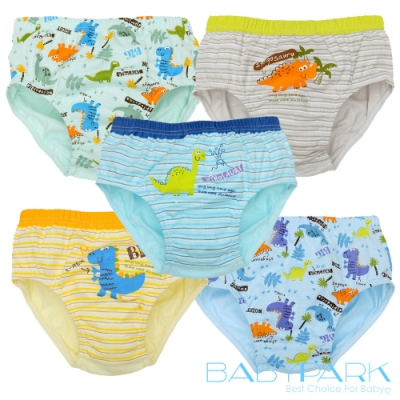 BabyPark 韓國純棉兒童內褲-恐龍公園