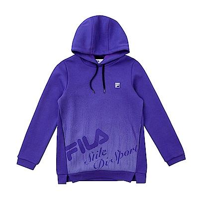 FILA KIDS 童連帽長版上衣-紫色 5TES-8324-PL