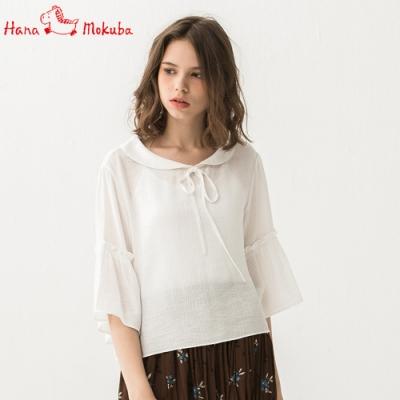 Hana-Mokuba-花木馬日系女裝娃娃領襯衫_米白/淺粉