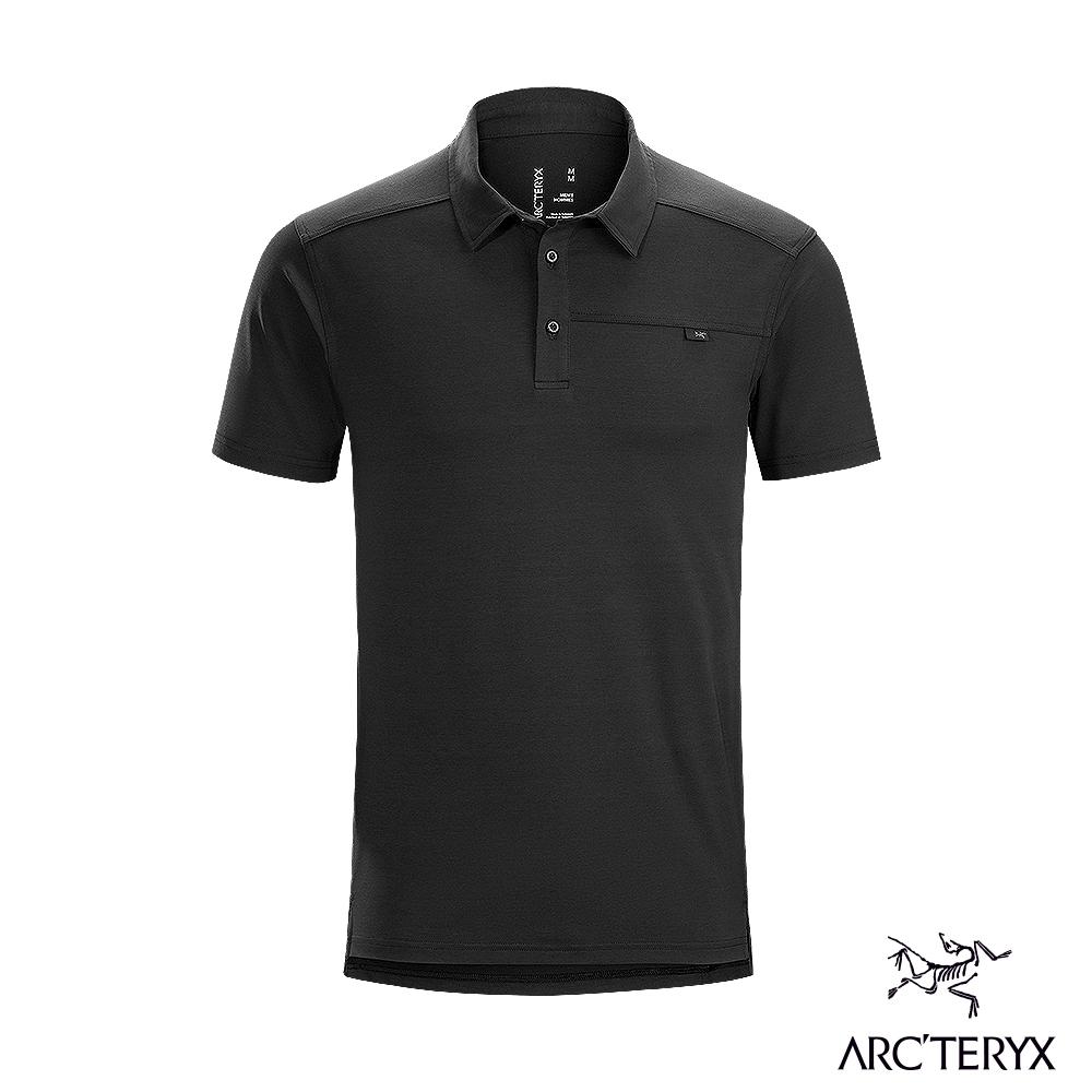 Arcteryx 始祖鳥 男 Captive 吸濕排汗 短袖 POLO衫 黑