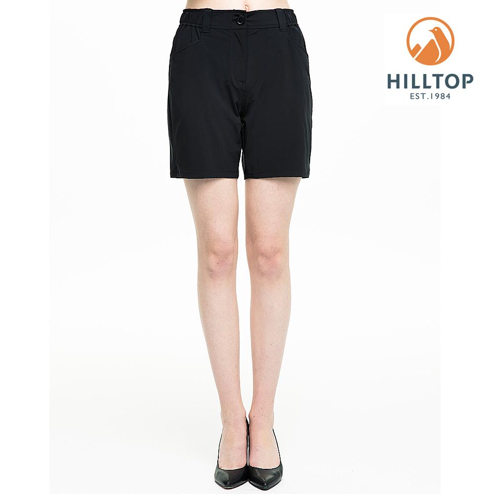 【hilltop山頂鳥】女款超潑水彈性抗UV短褲S09F67黑美人