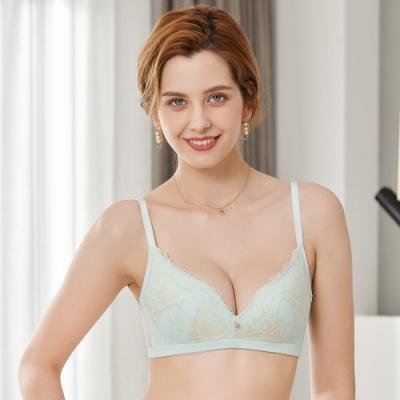 黛安芬-FLORALE柔美初馨系列無鋼圈 B-E罩杯內衣 藍