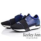 Keeley Ann 個性玩酷~繃帶懶人運動休閒鞋(藍色-Ann系列)