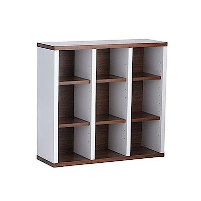 《Accessco》日系雙色九格厚板收納書櫃(87x30x90cm)