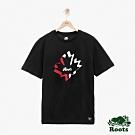 男裝ROTOS 楓葉短袖T恤-黑色