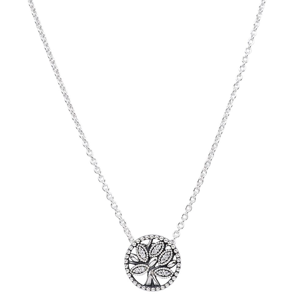 Pandora 潘朵拉 閃耀鑲鋯生命樹 925純銀項鍊