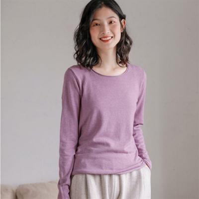 100%綿羊毛毛衣寬鬆外穿上衣內搭針織衫-設計所在