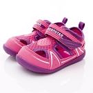 日本月星頂級童鞋 護趾學步涼鞋 ON344桃(寶寶段)