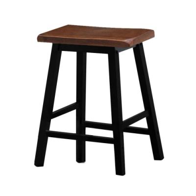 Bernice-夏菲1.5尺黑色實木吧台椅/高腳椅/休閒椅(二入)-44x23x60cm