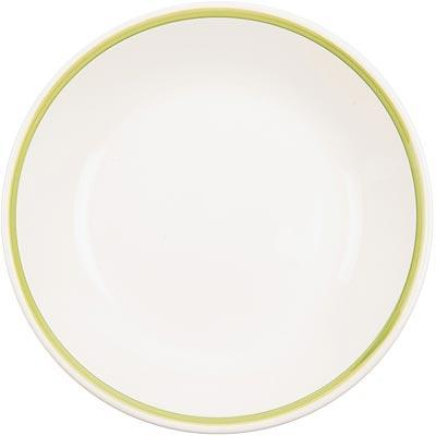 《EXCELSA》陶製勾邊餐盤(綠M)