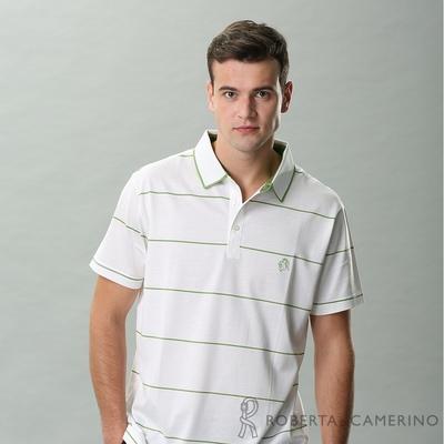 ROBERTA諾貝達 台灣製 優質嚴選 純棉短袖POLO棉衫 白色