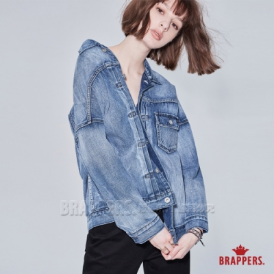 BRAPPERS 女款 Boy friend系列-寬鬆落肩牛仔外套-藍