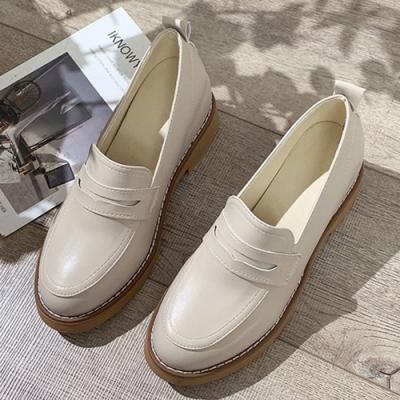 KEITH-WILL時尚鞋館 美型春暖花開增高樂福鞋-米