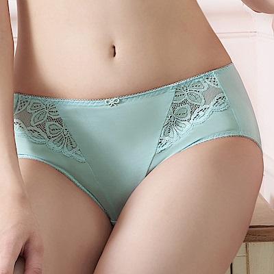 推EASY SHOP-誘香之吻 中腰平口褲(藍灰色)