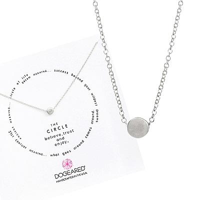 【Dogeared】circle of life氣質豆豆項鍊-優雅銀色