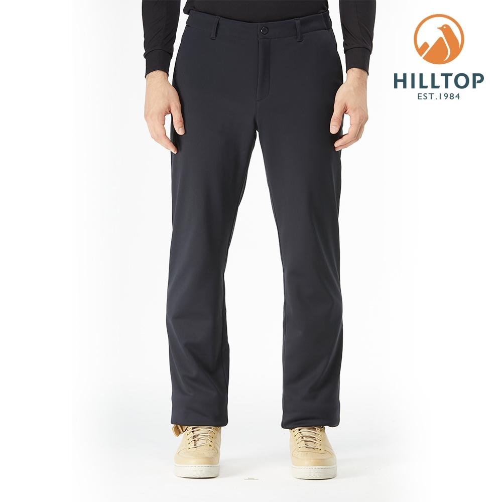 【hilltop山頂鳥】男款WINDSTOPPER防風透氣保暖長褲H31MM6黑美人