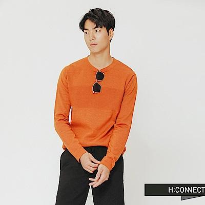 H:CONNECT 韓國品牌 男裝-質感造型針織上衣-黃