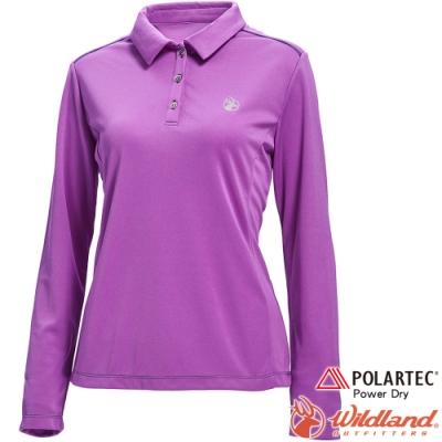 Wildland 荒野 P1607-53紫色 女POLARTEC長袖功能衣