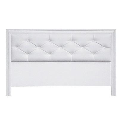 綠活居 多利爾時尚白3.5尺皮革單人床頭片-108.6x2.1x93.3cm免組