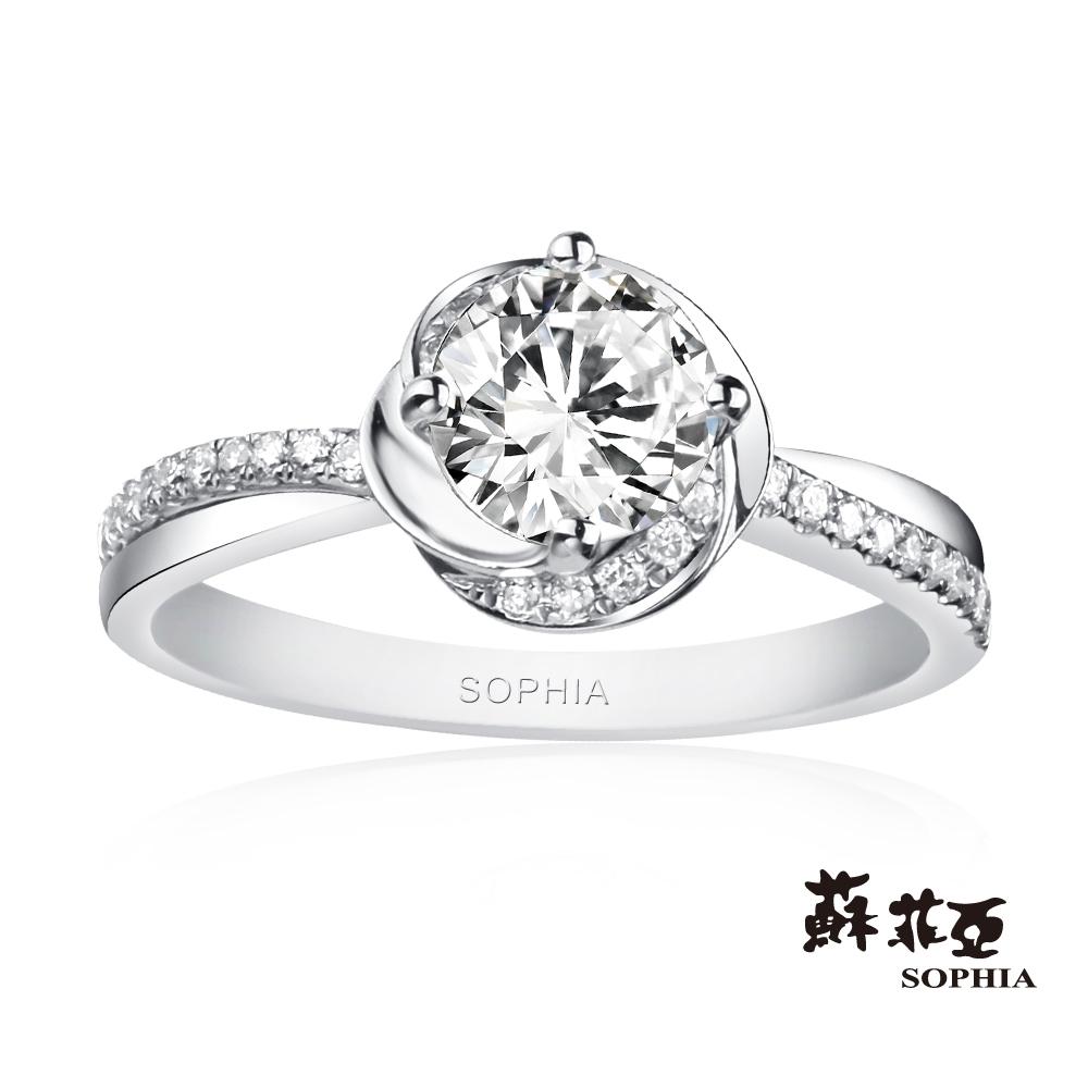 (無卡分期18期)蘇菲亞SOPHIA 鑽鍊-幸福相擁1.00克拉鑽石戒指