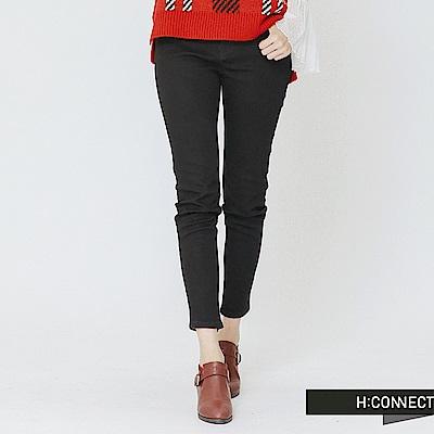 H:CONNECT 韓國品牌 女裝-仿舊刷色合身長褲-黑