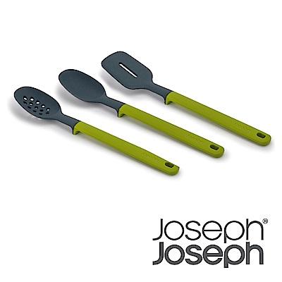 Joseph Joseph 不沾桌矽膠料理鏟匙三件組(灰綠)