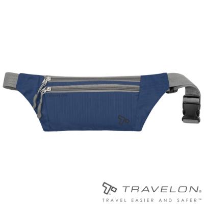 【Travelon】PACKING輕巧多夾層貼身輕量腰包TL-42977深藍/隨身包/收納包/零錢包/休閒運動旅遊適用