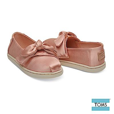 TOMS 緞面蝴蝶結休閒鞋-幼童款