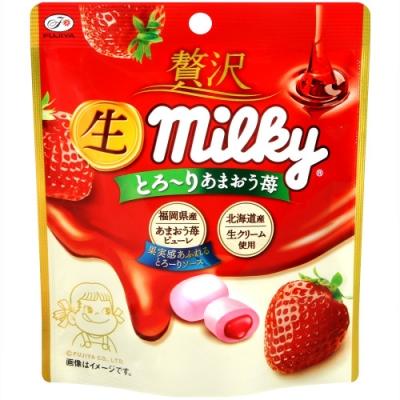 不二家 立袋草莓牛奶糖(34g)