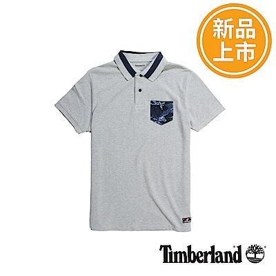 Timberland 男款灰色AOP短袖POLO衫