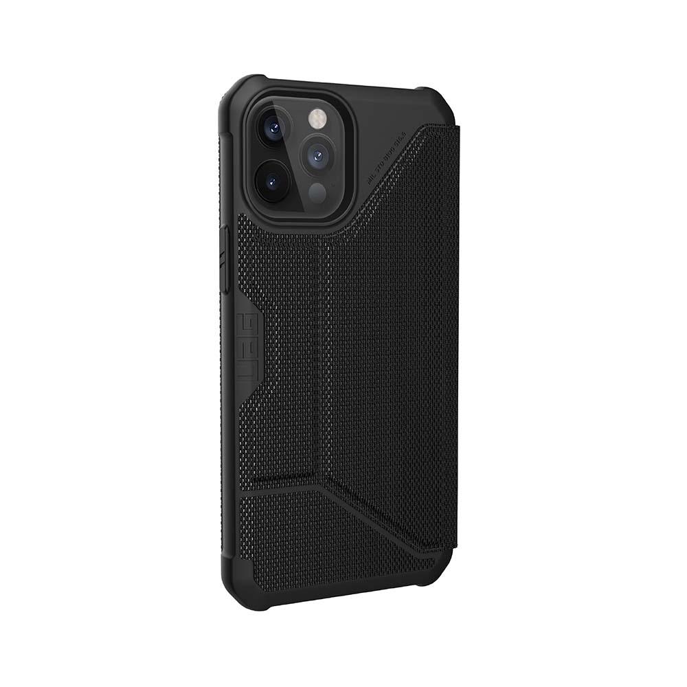 UAG iPhone 12/ 12 Pro 翻蓋式耐衝擊保護殼-軍用黑
