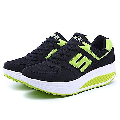韓國KW美鞋館 運動健美輕量透氣網布健走鞋-黑色