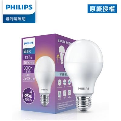 Philips 飛利浦 超極光 13W LED燈泡-燈泡色3000K (PL010)